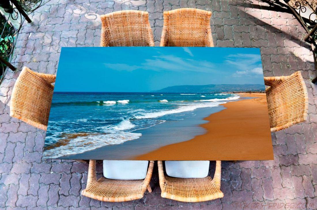 Наклейка на стол - Лазурь и охра