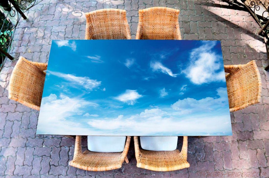 Наклейка на стол - Облачность