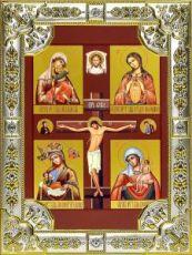 Материнская икона Божией Матери (18х24), серебро