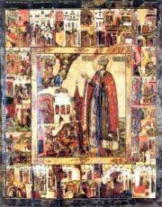 Икона Димитрий Угличский (копия 18 века)