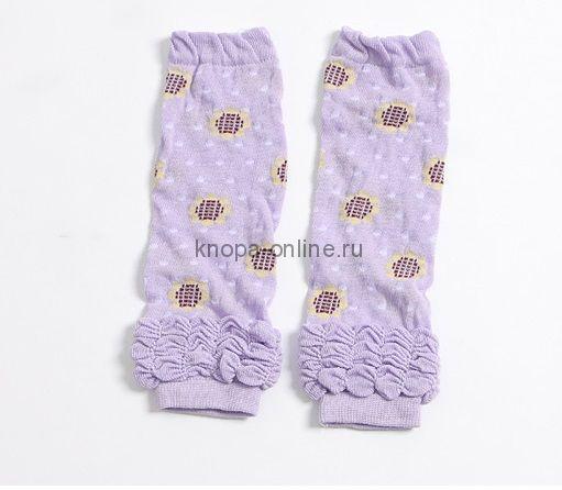 Гетры - Фиолетовые цветочки