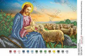 БКР-4053.  Иисус Добрый Пастырь А4 (набор 500 рублей) Ricamo