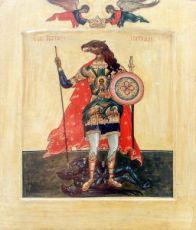 Икона Христофор Псеглавец (копия 16 века)