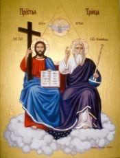 Икона Новозаветная Троица (Сопрестолие)
