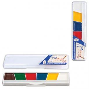 """Краски акварельные ГАММА """"Лицей"""", 6 цветов, медовые, без кисти, пластиковая коробка, 212063"""