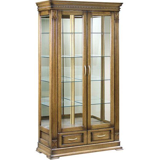 Шкаф с витриной Верди Люкс 2з П487.21з