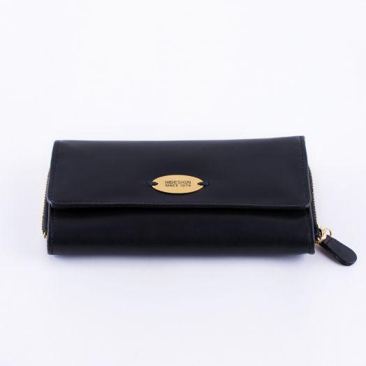 Шикарное женское портмоне с идеальным функционалом HIDESIGN Côte d'Azur Black