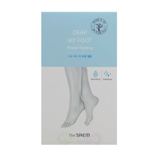 Пилинг-носочки для ног The Saem Dear My Foot Power Peeling