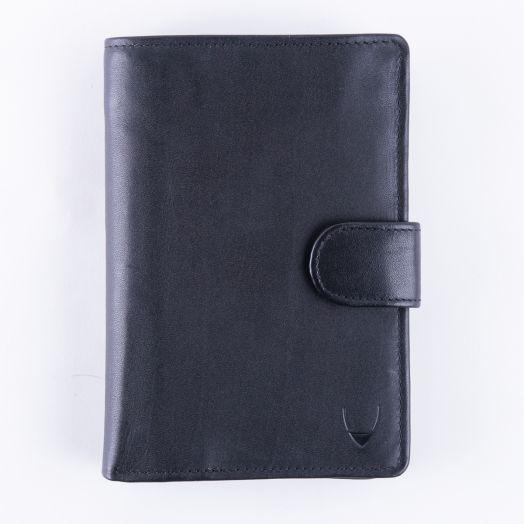 Максимально удобное дорожное портмоне с отделением для паспорта Hidesign Dunkirk Black