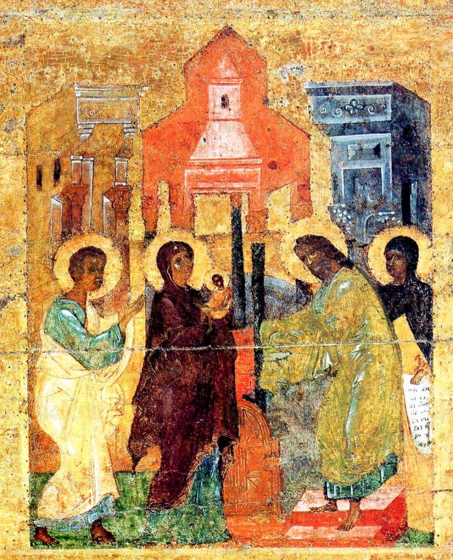Икона Сретение Господне (копия старинной)