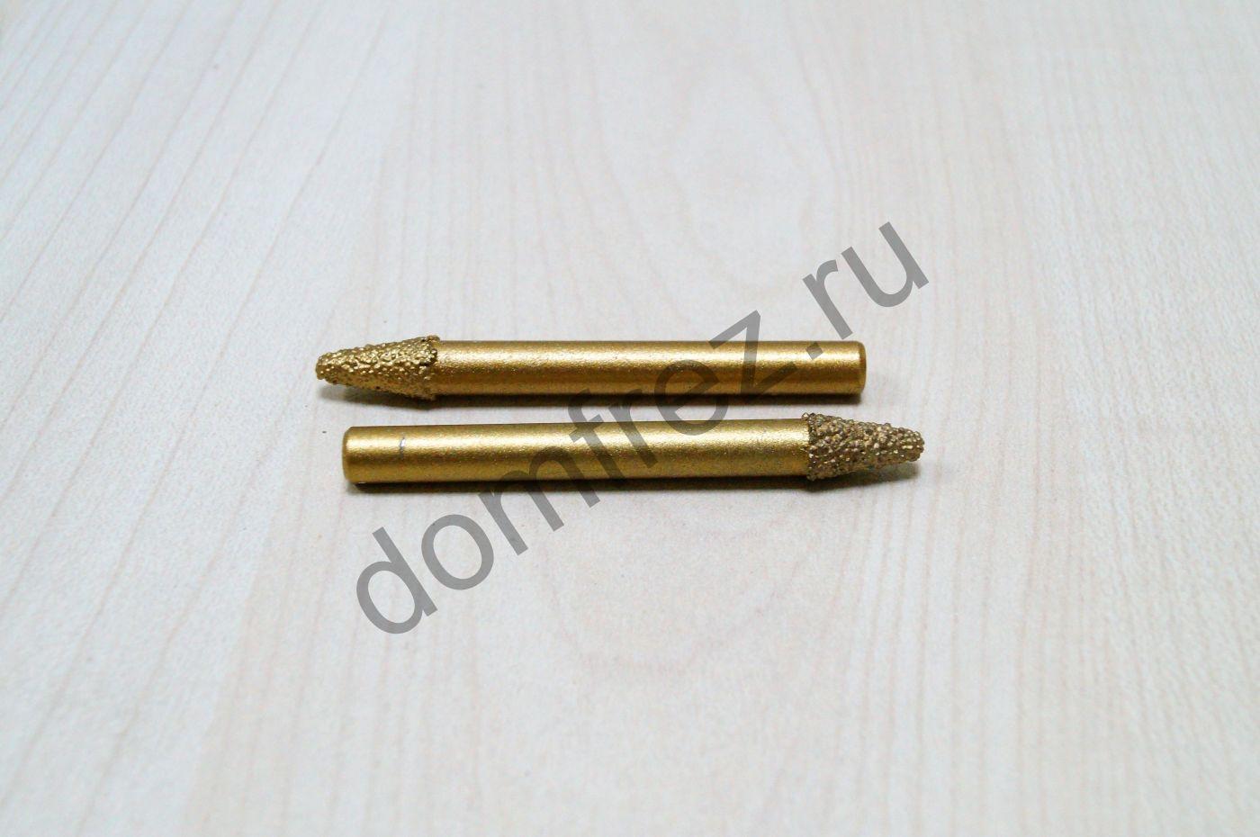 Фреза алмазная концевая коническая 6x12x60xR1.5 A893106031260