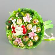 """Букет из конфет и игрушки №703-1К """"Сказочный сад"""""""