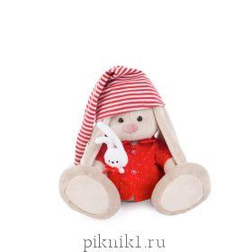 Зайка Ми в красной пижаме 18 см