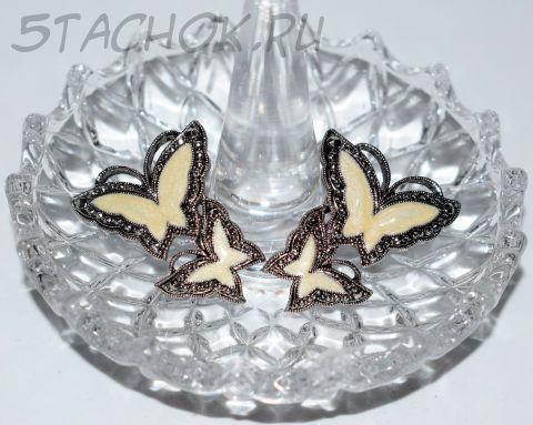 "Серьги-гвоздики ""Бабочки"" (Avon США)"
