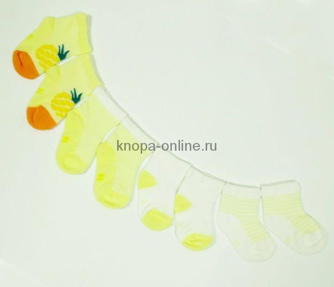 Носочки фрукты 4шт., ананас