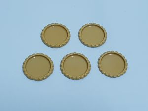 `Крышка, металл, внутренний диаметр 25 мм, наружный 31 мм, цвет №15
