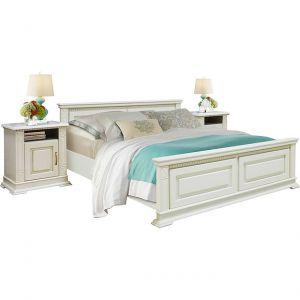Кровать двойная Верди Люкс с высоким изножьем