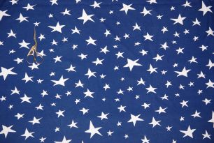 Звезды на темно-синем интерлок