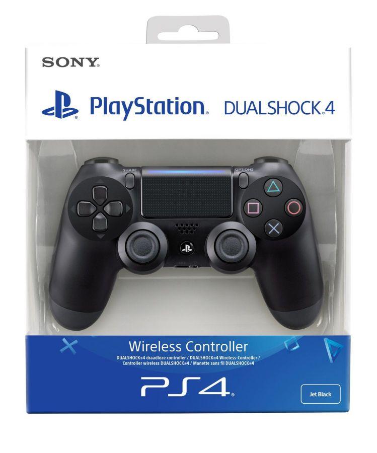 Геймпад Sony PlayStation 4 черный (версия v2)