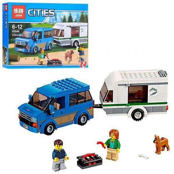 """LEPIN CITIES """" Фургон и дом на колесах """" 270 деталей NO.02048 ( CITY 60117 )"""