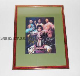 Автографы: Boney M. Митчелл, Баррэтт, Уильямс, Фаррелл, Фариан. Редкость!