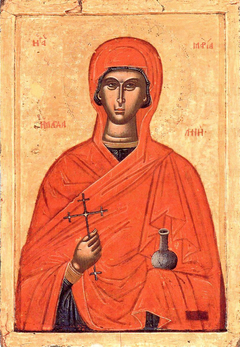 Мария Магдалина древняя икона