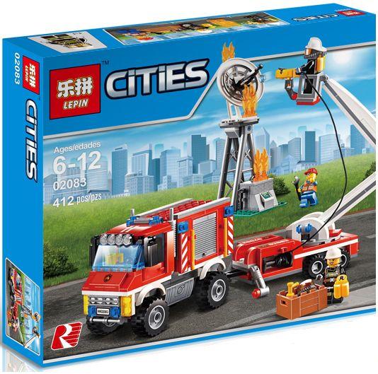 "LEPIN CITIES "" Грузовик пожарной команды "" 412 деталей No.02083 ( CITY 60111 )"
