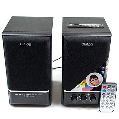 Мультимедийные колонки 2.0 Dialog AD-07 BLACK (2*12W RMS)