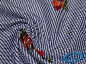 """Рубашечная ткань полоска """"вышивка"""" 16491/D2/C#1"""