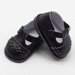 Обувь для кукол 6,5 см - сандалики черные