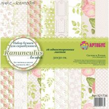 "Набор бумаги  ""Rananculus"" 30х30 см"