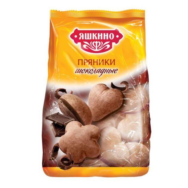 Пряники в сахарной и шоколадной глазури 350г Яшкино