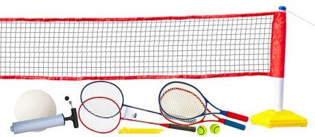 Набор для волейбола, тенниса, бадминтона с регулируемой по высоте сеткой «Prazer 3 в 1» (полный набор аксессуаров)