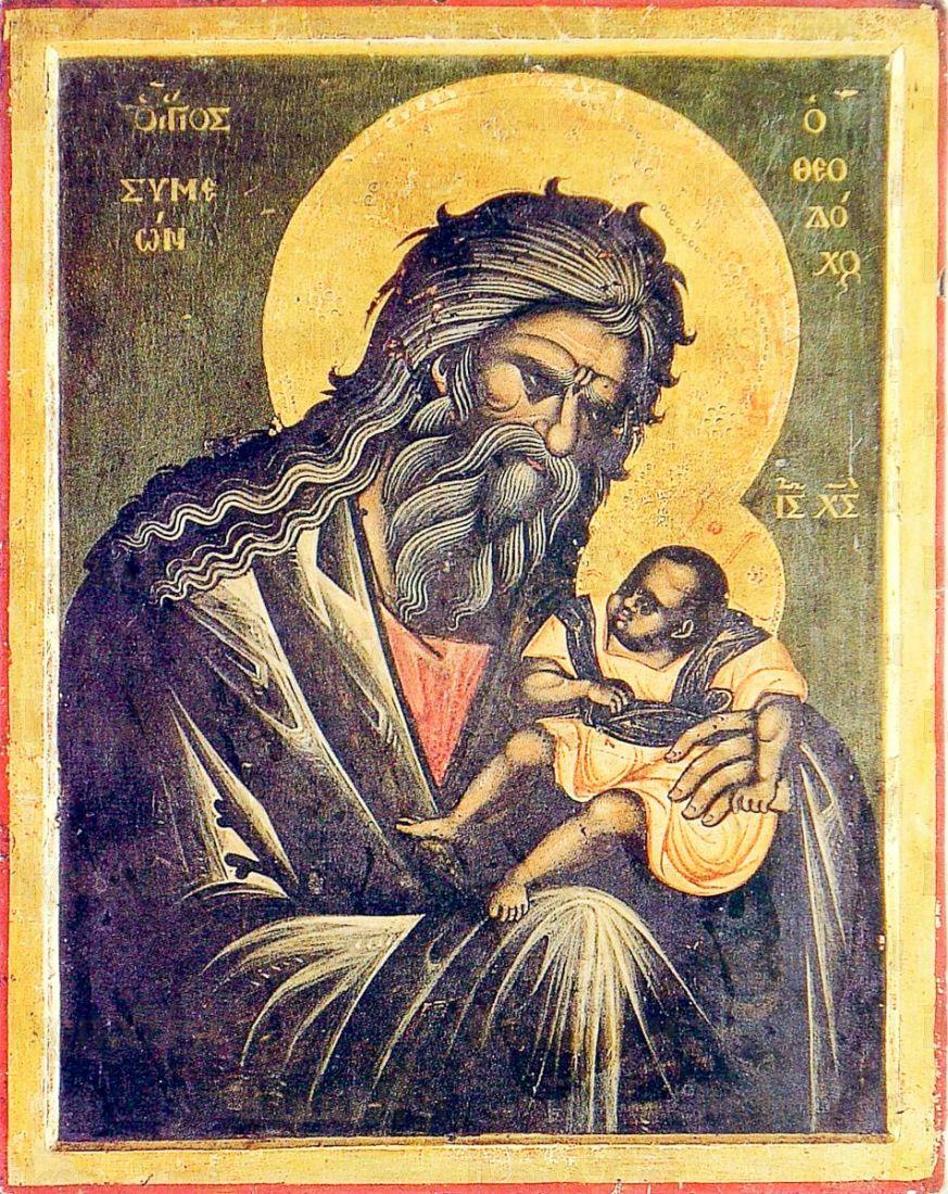 Икона Симеон Богоприимец (копия старинной)