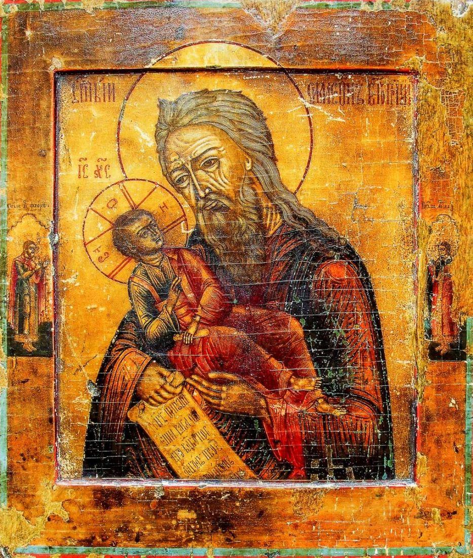 Икона Симеон Богоприимец (копия 18 века)