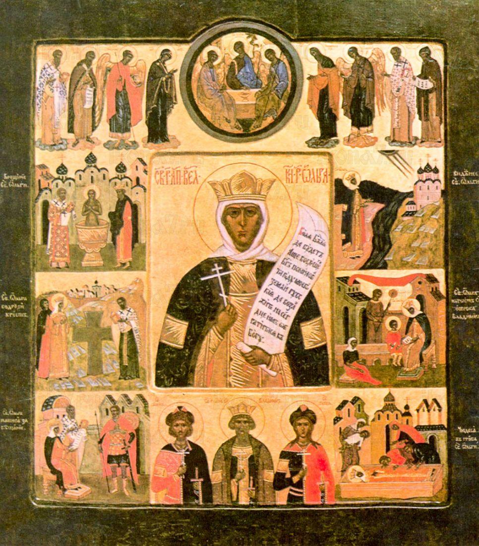 Икона Ольга, княгиня (копия старинной)