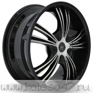 HARP Y-02 7.5x18/5x114.3 ET40 D72.6 Glossy-Black__Machined-Face__Glossy-Black-Lip