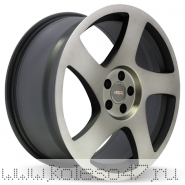 VISSOL V-006 8.5x18/5x112 ET35 D66.6 BLACK MACHINED WITH DARK TINT