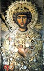 Икона Георгий Победоносец (копия 14 века)