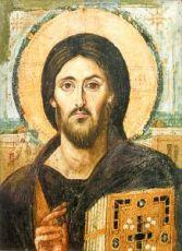 Христос Пантократор Синайский (копия старинной иконы)