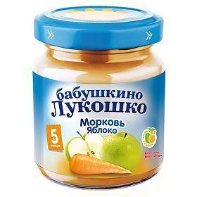 Пюре Бабушкино Лукошко яблоко/морковь 100г