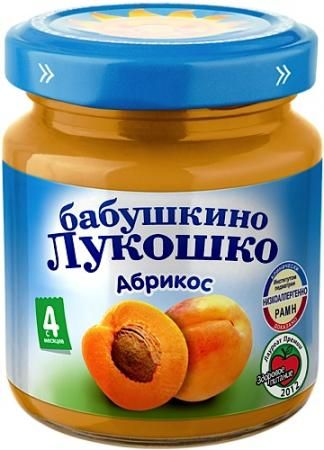 Пюре Бабушкино Лукошко абрикос 100г