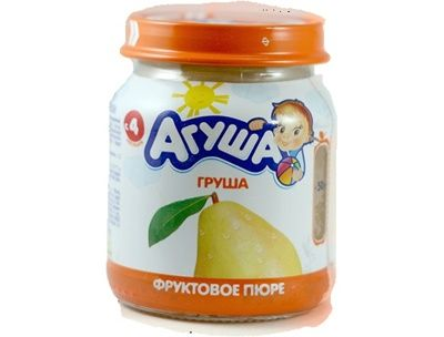 Пюре Агуша 115г фрукт/груша ст/б