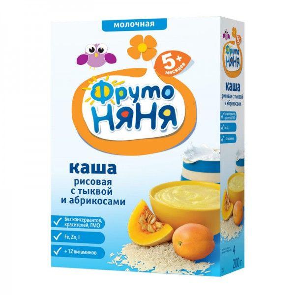 Каша Фрутоняня рис/тык/абр/молоко 200г