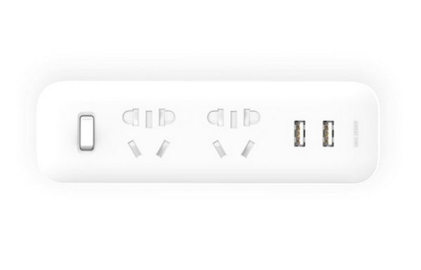 Разветвитель MiJia Power Strip (2 розетки + 2 USB) (Белый)