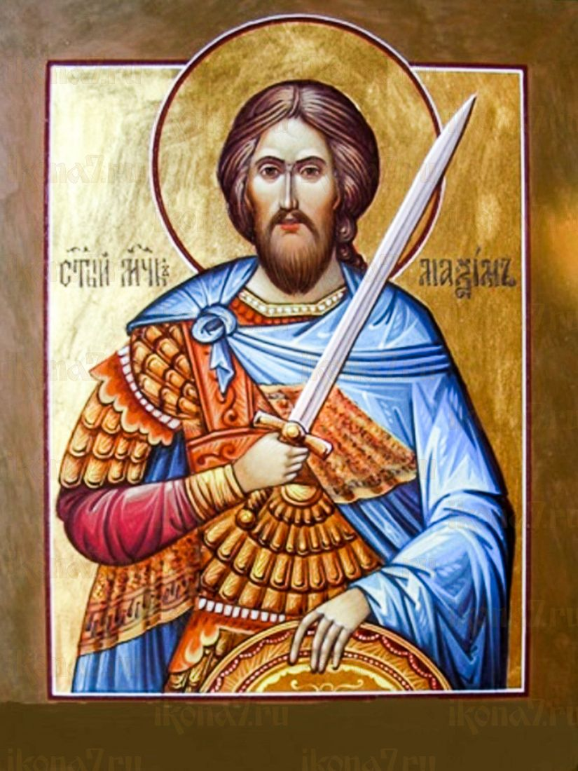 Максим Антиохийский (икона на дереве)
