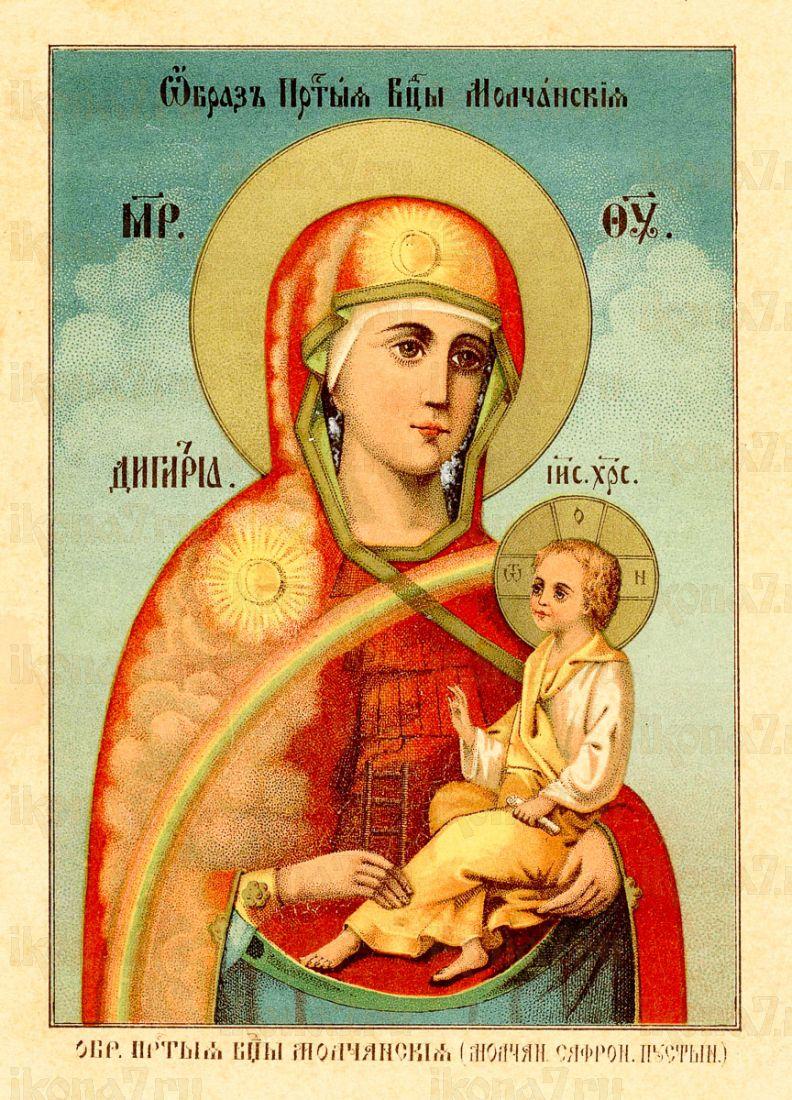 Икона Молченская икона Божией Матери (копия 19 века)