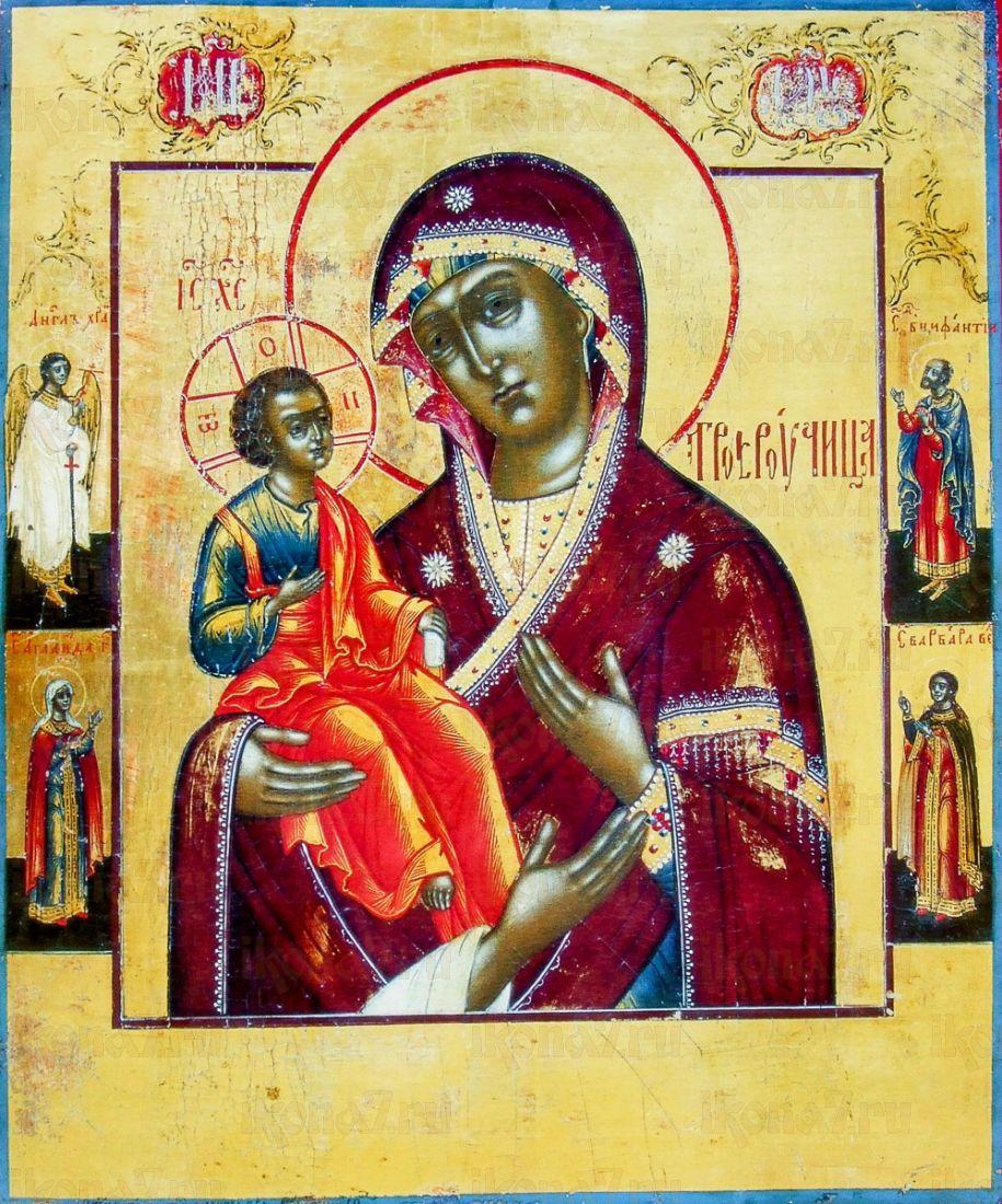 Икона Троеручица (копия 19 века)