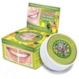 Круглая зубная паста с экстрактом ананаса «BINTURONG», 33г
