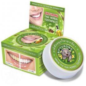 Круглая зубная паста с экстрактом зеленого чая «BINTURONG», 33г